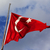 турецкий · флаг · флагшток · ветер · Blue · Sky - Сток-фото © bsani