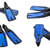 Set of blue swim fins for diving stock photo © BSANI