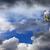 gyorsúszás · sí · kék · ég · hó · hegyek · felhők - stock fotó © bsani