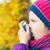 girl using inhaler on a autumn day stock photo © bubutu