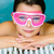 cute happy girl in pink goggles mask in the swimming pool stock photo © bubutu