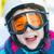 criança · menina · neve · inverno · óculos · branco - foto stock © bubutu