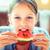 gyermek · eszik · görögdinnye · boldog · nagy · piros - stock fotó © bubutu