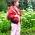 klaar · school · cute · schoolmeisje · uniform - stockfoto © bumerizz