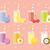 Fresh juices set in flat style stock photo © burtsevserge
