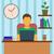 男 · 作業 · ホーム · ビジネス · オフィス · 作業 - ストックフォト © burtsevserge