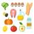 ベクトル · 健康食品 · スタイル · オーガニック · 製品 - ストックフォト © burtsevserge