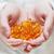 médicos · mão · gel · cápsulas · omega3 · óleo · de · peixe - foto stock © burtsevserge