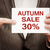 autumn sale 30 percent off stock photo © burtsevserge