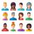 ensemble · humaine · ressources · icônes · gestion · affaires - photo stock © burtsevserge