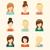 ソーシャルメディア · コレクション · セット · デザイン · アイコン - ストックフォト © burtsevserge