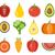 conjunto · fruto · calorias · ilustração · folha · arte - foto stock © burtsevserge