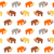 Seamless Pattern with Mammoth silhouettes stock photo © burtsevserge