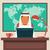 árabe · empresário · trabalhando · escritório · computador · café - foto stock © burtsevserge