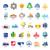 biggest collection of vector logos cities stock photo © butenkow