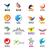 zusätzliche · groß · Tiere · Vögel · Set · Vektor - stock foto © butenkow