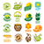toplama · vektör · logolar · sağlıklı · beslenme · gıda · soyut - stok fotoğraf © butenkow