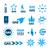 collection of vector logos of natural gas stock photo © butenkow