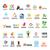 büyük · ayarlamak · vektör · logolar · star · dizayn - stok fotoğraf © butenkow