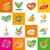 büyük · ayarlamak · vektör · logolar · tıp · iş - stok fotoğraf © butenkow