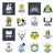 ensemble · vecteur · logos · mains · affaires · coeur - photo stock © butenkow