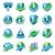 büyük · ayarlamak · vektör · logolar · sigorta · araba - stok fotoğraf © butenkow