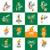 vegetarisch · logo · icon · symbool · veganistisch · voedsel - stockfoto © butenkow