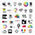 çevrimiçi · sinema · ikon · logo · film · logo · tasarımı - stok fotoğraf © butenkow
