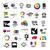 collection of logos tv video photo film stock photo © butenkow