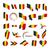 флаг · Бельгия · карта · евро · стране · карт - Сток-фото © butenkow