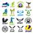büyük · ayarlamak · vektör · logolar · sağlık · iş - stok fotoğraf © butenkow