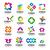 duży · zestaw · wektora · logos · geometryczny · słońce - zdjęcia stock © butenkow
