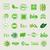 milieu · stickers · groene · aarde · bladeren · Geel - stockfoto © butenkow