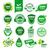 100 · glutenvrij · voedsel · label · ontwerp · ingesteld - stockfoto © butenkow