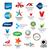 establecer · vector · resumen · creativa · diseño · de · logotipo · arte - foto stock © butenkow
