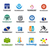 coleção · vetor · logos · tecnologia · negócio · projeto - foto stock © butenkow