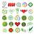 wektora · zestaw · środowiskowy · recyklingu · ikona · logos - zdjęcia stock © butenkow
