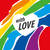 logo · coeur · Rainbow · design · gay · lesbiennes - photo stock © butenkow