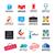 big set of vector logos office stock photo © butenkow