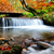 waterfall in the autumn forest stock photo © byrdyak