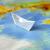 papel · barco · silhueta · solitário · menino · navegação - foto stock © byrdyak