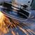 trabalhador · metal · faíscas · mão - foto stock © byrdyak