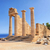 romok · ősi · templom · sziget · Görögország · tenger - stock fotó © byrdyak