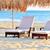2 · チェア · 白 · 傘 · ビーチ · 空 - ストックフォト © byrdyak