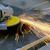 işçi · Metal · öğütücü · sparks · el - stok fotoğraf © byrdyak