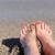 женщину · ног · девушки · расслабляющая · пляж - Сток-фото © byrdyak