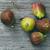 rusztikus · fa · asztal · felső · kilátás · gyümölcs · asztal - stock fotó © c12