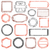 zestaw · gumy · znaczków · eps8 · papieru · projektu - zdjęcia stock © cajoer