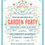 Garden Party Invitation stock photo © cajoer
