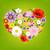 hart · bloemen · achtergrond · schoonheid · kunst · vrede - stockfoto © cammep
